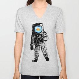Goldfish Astronaut Unisex V-Neck