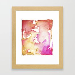 pink wash Framed Art Print