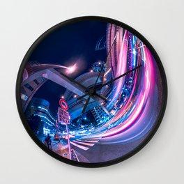 Tokyo Neon Night Light Wall Clock