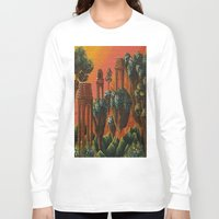 oasis Long Sleeve T-shirts featuring Unsettled Oasis by bmeow