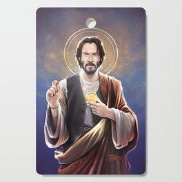 Saint Keanu of Reeves Cutting Board