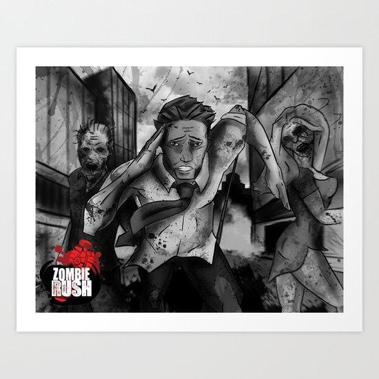 Zombie Rush - Deacon Promo Art Print