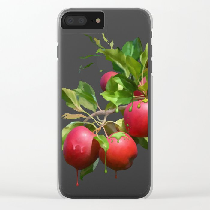 Melting Apples Clear iPhone Case