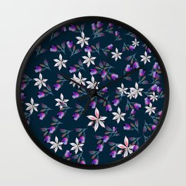 Beautiful pattern design with flowers in vintage style Wall Clock