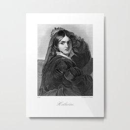 Katherine Victorian Reproduction Metal Print