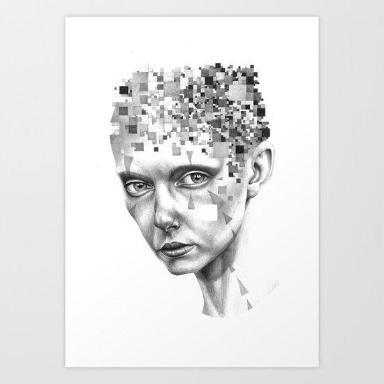 THE SPACEINVADERS 6# Art Print