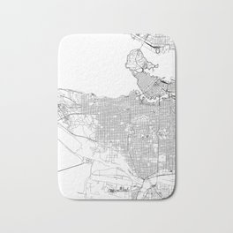 Vancouver White Map Bath Mat