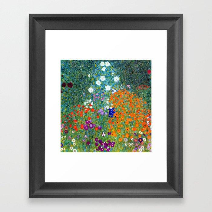 Gustav Klimt Flower Garden Gerahmter Kunstdruck