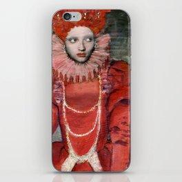 Queen Elisabeth/Newspaper Serie iPhone Skin