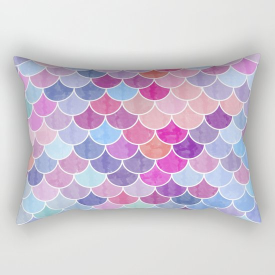 Watercolor Lovely Pattern VIV Rectangular Pillow