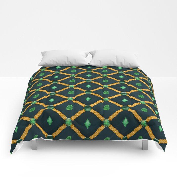 Glamour on blue velvet Comforters