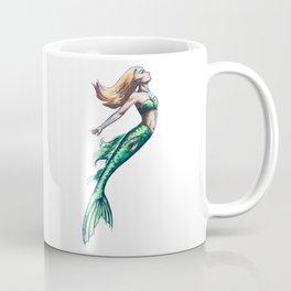 Green Mermaid Art Coffee Mug