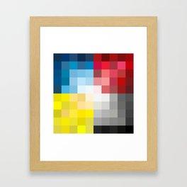 CMYK Pixel Framed Art Print