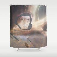 interstellar Shower Curtains featuring Interstellar by Itxaso Beistegui Illustrations