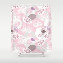 Pretty Poppies Seamless Repeating Pattern Shower Curtain