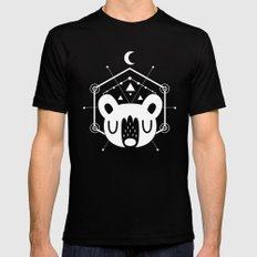 Moon Bear White Black MEDIUM Mens Fitted Tee