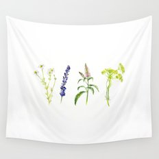 Tea Flowers   Wall Tapestry