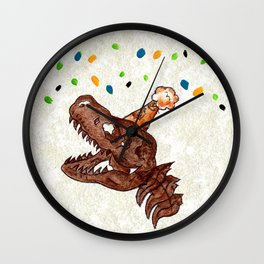 Old Fossil Wall Clock