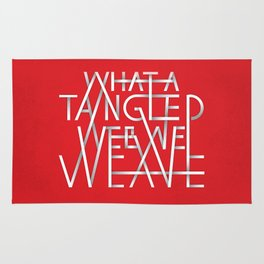 What A Tangled Web We Weave Rug