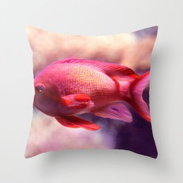 Red Fish Throw Pillow