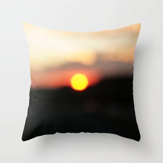 It was all a blur Throw Pillow