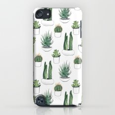 watercolour cacti and succulent iPod touch Slim Case