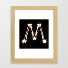 100 Days of Hybrid Type: M Framed Art Print