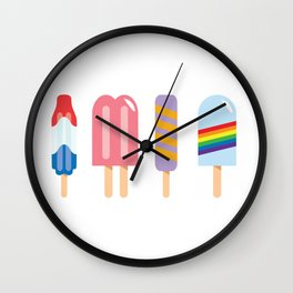 Popsicle - Four Pack #156 Wall Clock