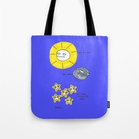 rubyetc Tote Bags featuring My sun, my moon, my tired pissed off stars by rubyetc