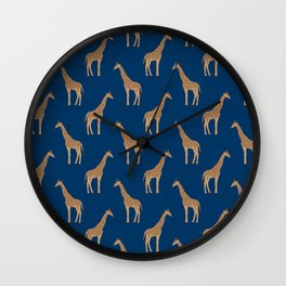 Giraffe african safari basic pattern print animal lover nursery dorm college home decor Wall Clock