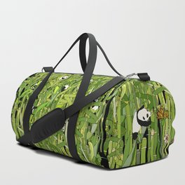 Traveling Pandas in Bamboo Forest Duffle Bag