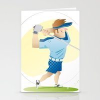golf Stationery Cards featuring Golf by Dues Creatius