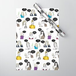 Real Housewives Drinking Wrapping Paper