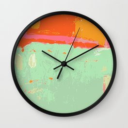 Infinity abstract art print pastel color Wall Clock
