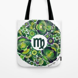 Virgo in Petrykivka style (with signature) Tote Bag