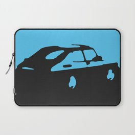 Saab 900 classic, Light Blue on Black Laptop Sleeve