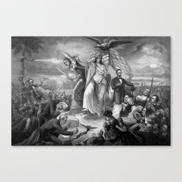 Outbreak Of Rebellion In The United States 1861 Canvas Print