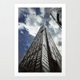 Chicago [Sky cut N°425] Illinois, Usa Art Print