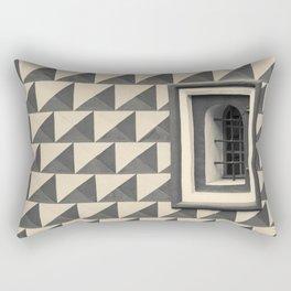 Geometric Old Wall Pattern Rectangular Pillow