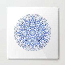 Mandala 12 / 2 eden spirit indigo blue Metal Print