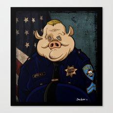 Officer Peel, Public Servant Canvas Print