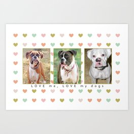 Boxer Lover Gifts Art Print