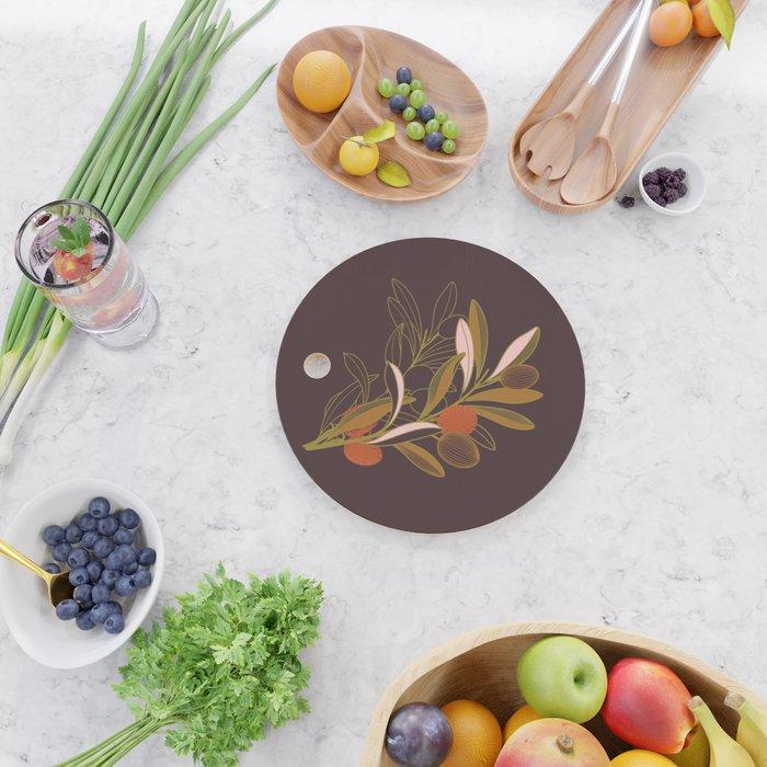 Olive branch Cutting Board
