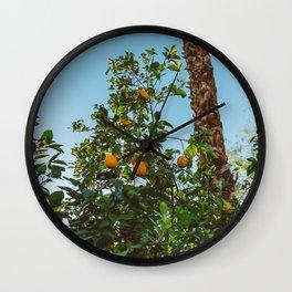 California Orange Tree II Wall Clock