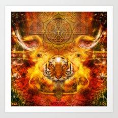 AdyaAnanda - Tiger.Tantra Art Print