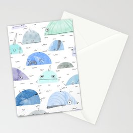 Whale party Stationery Cards