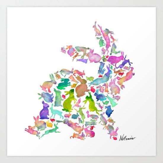 Soul Bunny - Spring Time Art Print