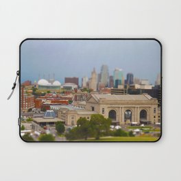 Union Station Kansas City Tilt Shift Color Photo Laptop Sleeve