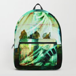 Tourist Destination - Statue of Liberty - Newspaper Style Backpack