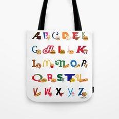 Fast Food Alphabet Tote Bag
